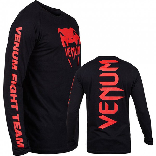 "Venum ""Pro Team 2.0"" Long Sleeves T-shirt - Red Devil"