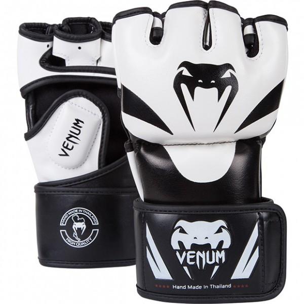 "Venum ""Attack"" Krav Maga / MMA Gloves - Black/Ice - Skintex leather"