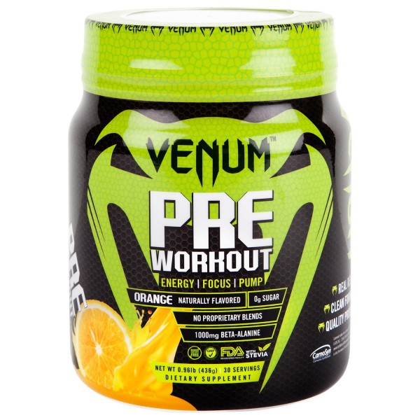 Nutrition Venum Pre-Workout - 30 Servings-Orange