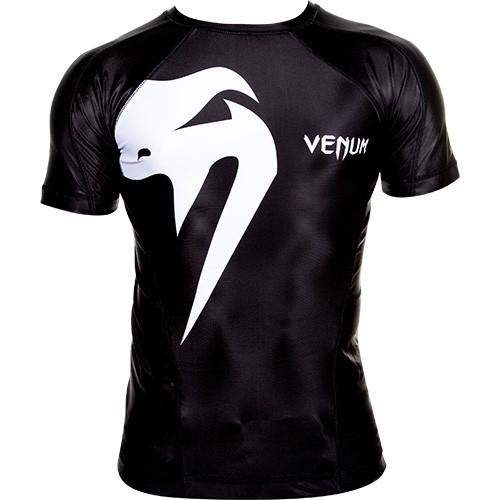 """Venum """"Giant"""" Rashguard - Black - Kurzarm"""