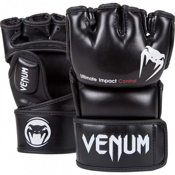 "MMA / Krav Maga Handschuhe Venum ""Impact"" - Black - Skintex Leather"
