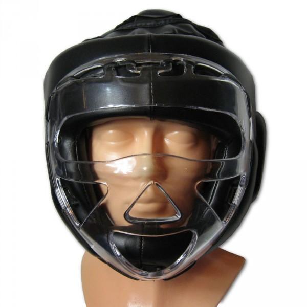 Vollkontakthelm Bushi Kunstleder mit Gesichtschutz